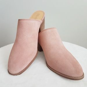 Madewell Suede The Harper Mule Old Rose